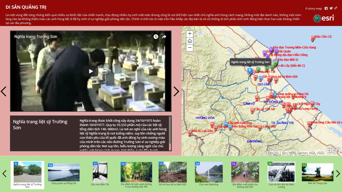 Map tour Di sản Quảng trị